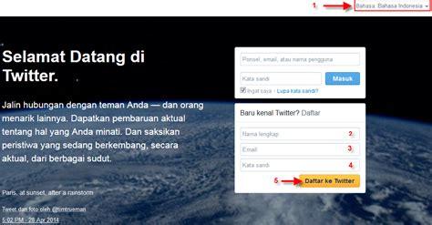 cara membuat twitter lewat laptop cara daftar twitter terbaru cara membuat twitter lewat