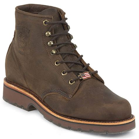 chippewa mens 6 inch eh lace up steel toe boot 1752
