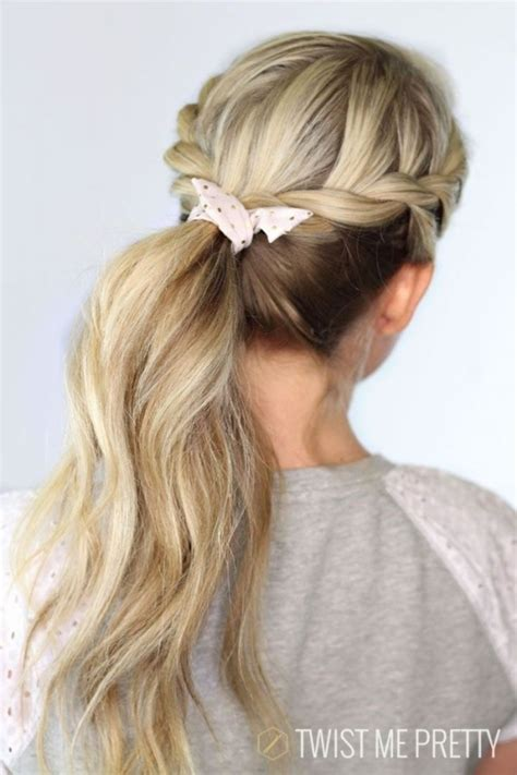 cute hairstyles second day hair 27 twisted ponytail 30 sensational second day hair