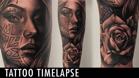 poly tattoo timelapse poly