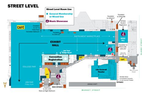 san antonio convention center floor plan convention center floorplans