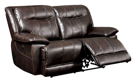 Furniture Of America Fulton Brown Faux Leather Power