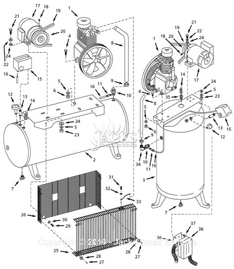 kobalt air compressor wiring diagram sullair compressor