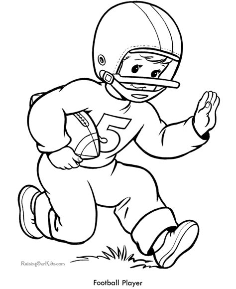 coloring page of a football player coloring pages football player coloring home