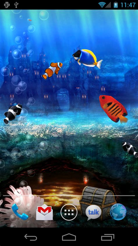 koi free live wallpaper 1 35 apk fish tank 3d live wallpaper aquarium live
