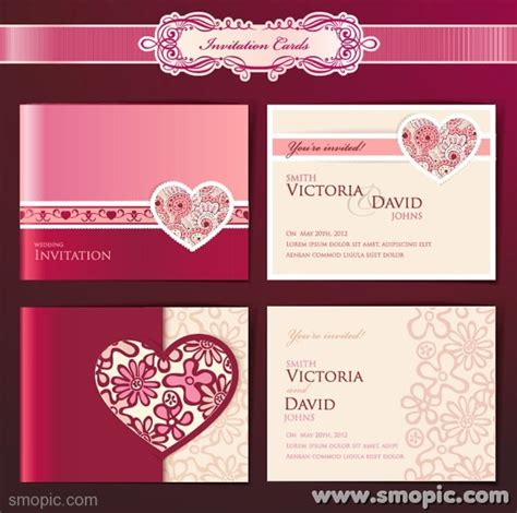 wedding invitation card design vector free download 13 download free wedding invitation cards designs images