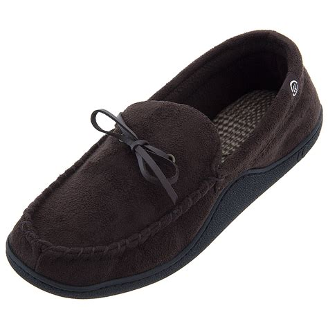 mens isotoner slippers isotoner brown moccasin slippers for