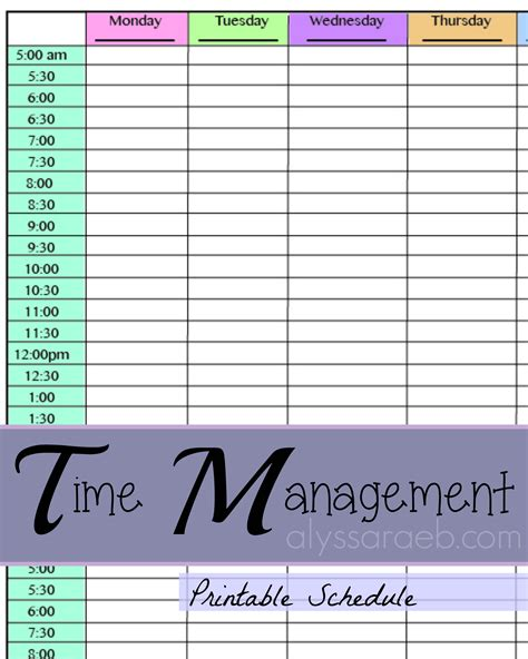 time management to do list template time management alyssa