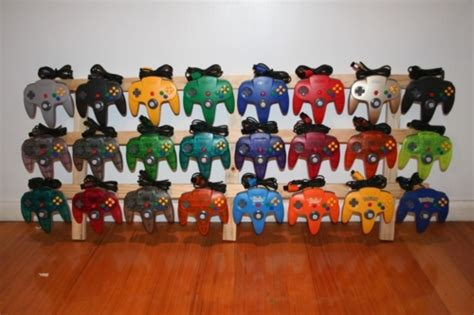 nintendo 64 colors this is almost every color of n64 controller released