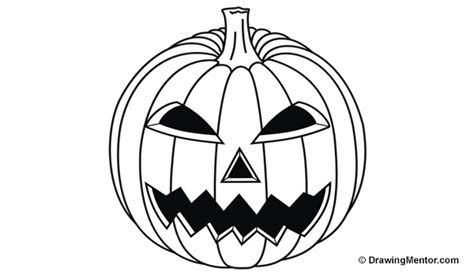 draw a pumpkin for how to draw a pumpkin step by step tutorial