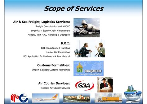 Scope Of Mba In International Transportation And Logistics Management by Pioneer Air Cargo Company Profile