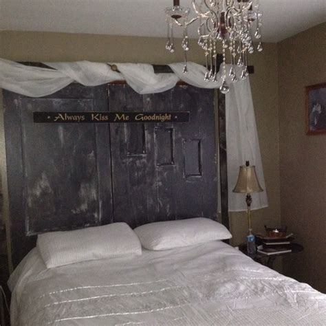 using an old door as a headboard old door headboard home inspiration pinterest