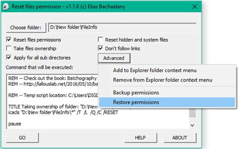 reset permissions tool how to reset ntfs file permissions in windows 10 8 7