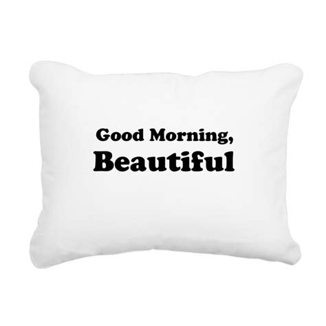 Beautiful Morning With You The Pillows by Morning Beautiful Rectangular Canvas Pillow By