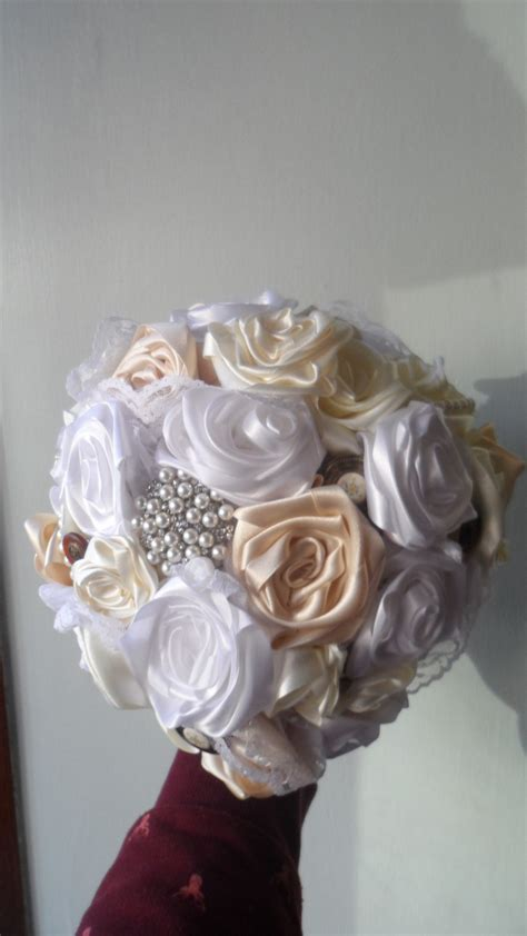 Ribbon Rose Wedding Bouquet · How To Make A Bouquet