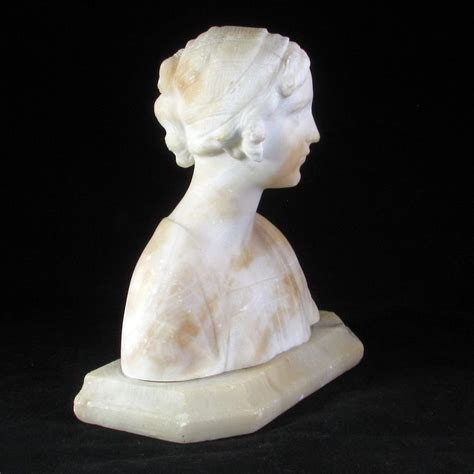 3second 515 White L italian white marble bust of on an alabaster base circa from bearraven on ruby