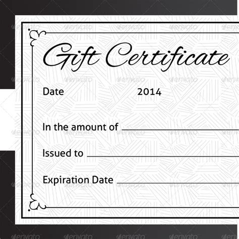 simple gift certificate template 12 sle blank gift certificate templates sle