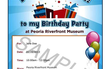 birthday invitation sle letter sle invitations cloudinvitation