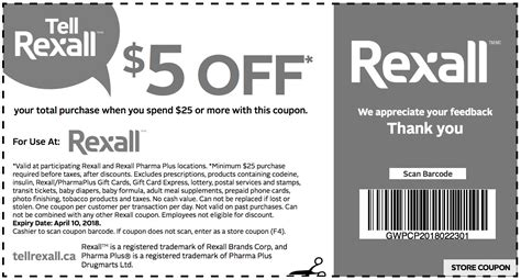 ls plus discount coupons rexall pharma plus canada coupons save 5 off your total