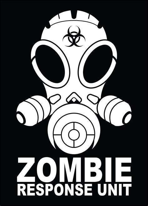 Zombie Fensteraufkleber by Zombie Response Unit Vinyl Decal Sticker Silouette