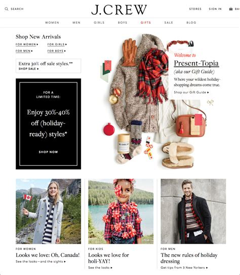 Where To Buy J Crew Gift Cards - 3 vital holiday updates your ecommerce website design totally needs shipstation