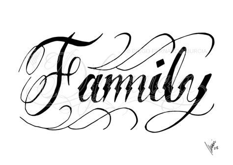 family script tattoo designs 2010 a4 pencil on a printed copy commission with