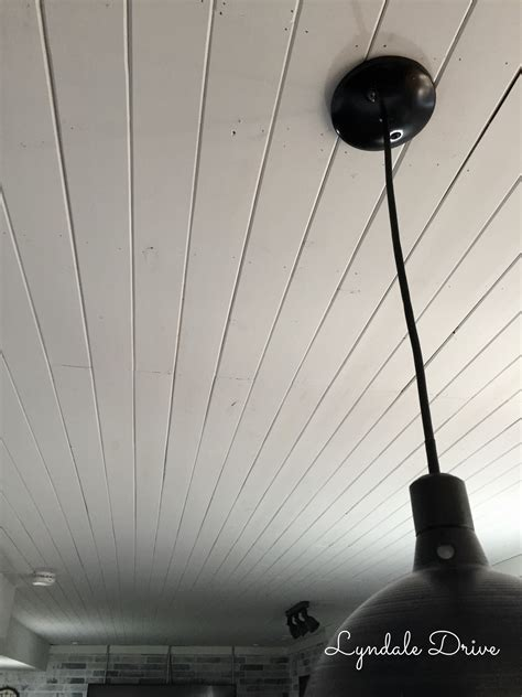 Livingroom Makeover how to add shiplap to a ceiling