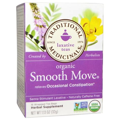 Smooth Move Detox traditional medicinals smooth move tea original 16 bags