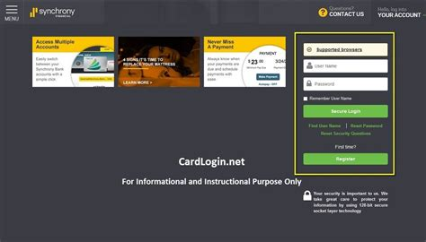 home design credit card login home furniture credit card login 100 synchrony home