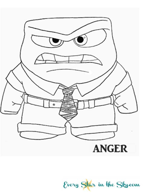 coloring page of anger from inside out inside out coloring faces coloring pages