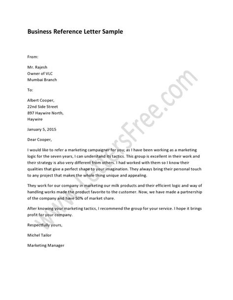 Reference Letter Purpose purpose professional reference letter and business on