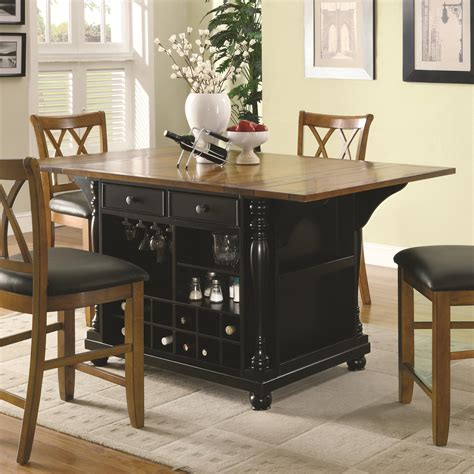 coaster co kitchen island table in two tone coaster co dining room outlet dining tables kitchen island table