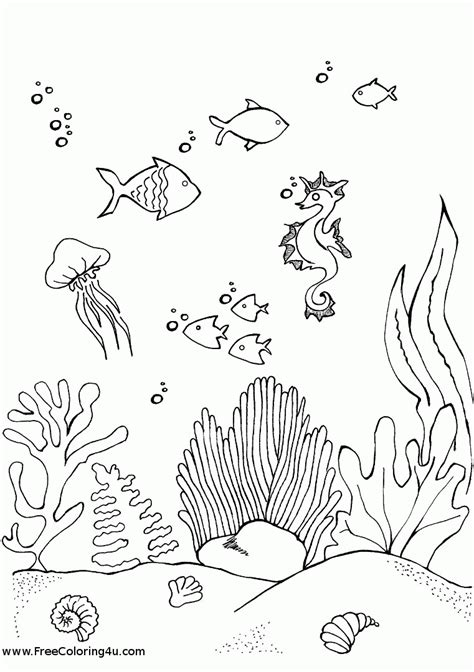 printable coloring pages underwater underwater coloring pages coloring home