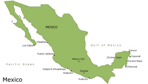map of mexico vacation spots maps update 640420 mexico travel destinations map tag