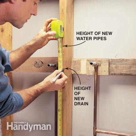 pedestal sink supply lines floor how to plumb a pedestal sink the family handyman