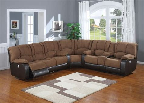 Microfiber Leather Sectional Sofa by 3 Pc 2 Tone Jagger Mocha Microfiber And Leather Like Vinyl