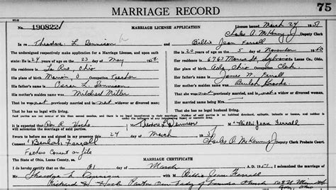 Ohio State Marriage Records Genealogy Data Page 91 Notes Pages