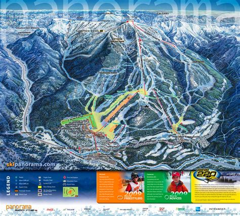 western canada ski resorts map canada ski panorama mountain canadian rockies