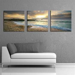 Home Decor Canvas Prints by Framed Home Decor Wall Art Canvas Print Beach Seascape