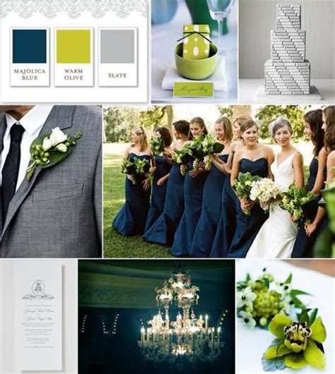 green and gray wedding colors wedding color palette gray green and navy paperblog