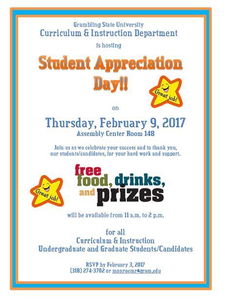 Appreciation Day Calendar Grambling State 2017 Student