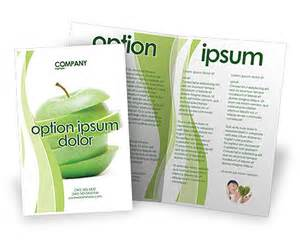 Apple Brochure Templates by Sliced Green Apple Brochure Template Design And Layout