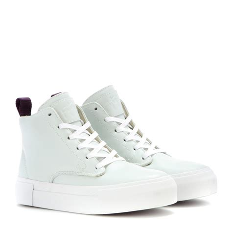 hightop shoes for eytys odyssey leather high top sneakers in white lyst