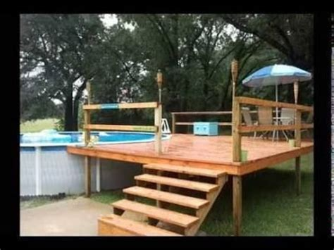 pallet deck   ground pool google search