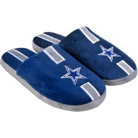 dallas cowboys slippers nfl adults dallas cowboys soft slippers walmart