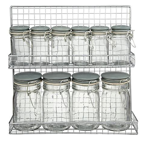 buy garden trading spice rack and jars lewis