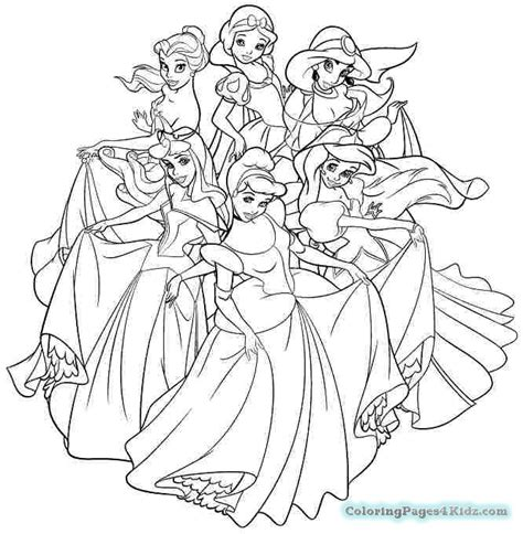 princess coloring pages easy all disney princesses coloring pages coloring pages for kids