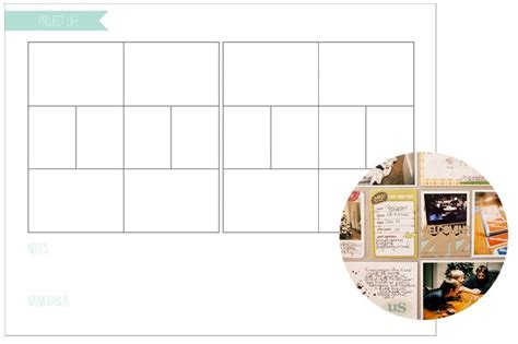 project life printable planner 1000 images about project life templets on pinterest