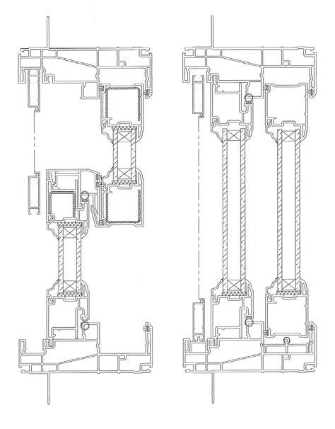 Sliding Door Construction Drawings Drawing Clipgoo Sliding Glass Door Details