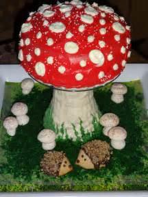 mushroom cake cupcakes hedgehogs krazy kitchen